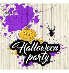 Halloween background with orange pumpkin vector image vector image