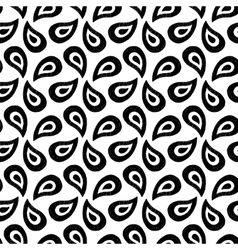 Hand drawn paisley seamless pattern vector