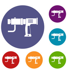 hand drill icons set vector image