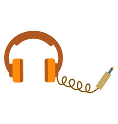 Headphones isolated vector