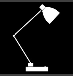 Lamp the white color icon vector
