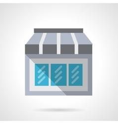 Mobile store flat color design icon vector image