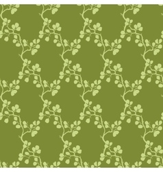 Moss green kimono branches silhouette vector