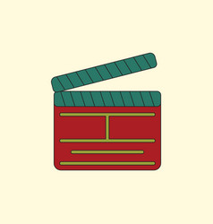 Producer clapperboard in flat vector