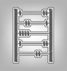 Retro abacus sign pencil sketch imitation vector
