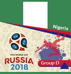 Russia 2018 wc group d nigeria background vector