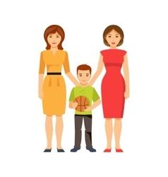 Same-sex parents vector