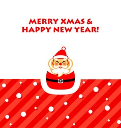 Santa greetings card vector image vector image