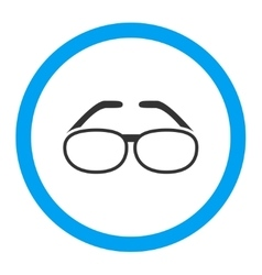 Spectacles Rounded Icon vector image