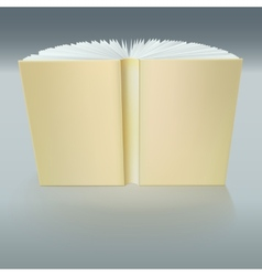 Standing open book with pages vector image vector image