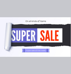Super sale action banner poster sellings ad vector