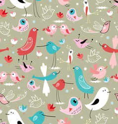 texture of different birds vector image vector image