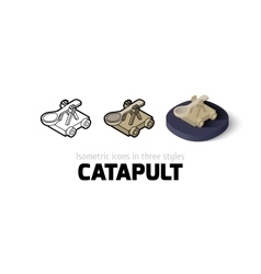 Catapult icon in different style vector