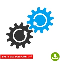 Gear mechanism rotation eps icon vector