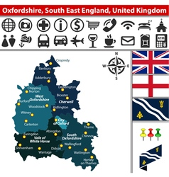 Oxfordshire south east england vector