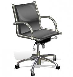 black armchairs vector image