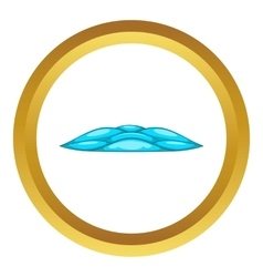 Quiet waves icon vector
