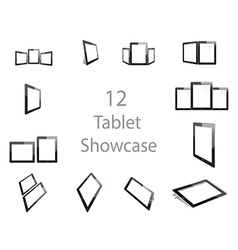 Tablet screen showcase vector