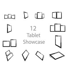Tablet Screen Showcase vector image