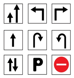 Trtraffic sign collections vector