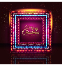 Merry christmas and happy new year card with frame vector