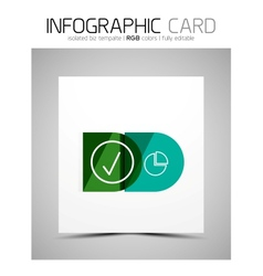 Semicircle infographic business card vector
