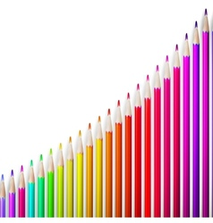 Multicolored pensils isolated plus eps10 vector
