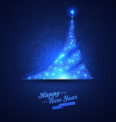 Xmas tree glowing background vector