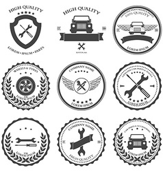 Car service auto parts and tools icons vector