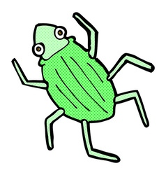Comic cartoon bug vector