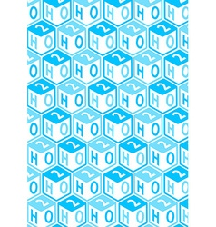 H2o toy blocks in a repeat pattern vector
