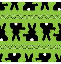 Seamless - easter bunny background vector