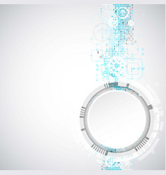 abstract background with various technological vector image