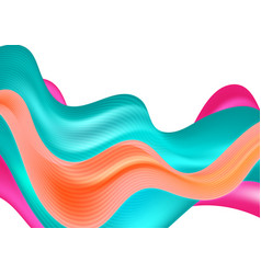Abstract colorful modern waves background vector