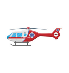 Ambulance helicopter medical evacuation helicopter vector