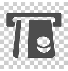 Bank card terminal icon vector