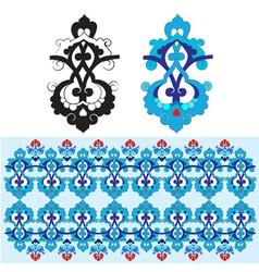 blue oriental ottoman design thirty one vector image