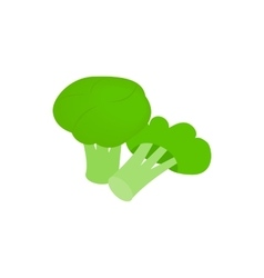 Broccoli icon isometric 3d style vector image vector image