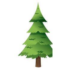 Cartoon christmas tree decoration celebration vector