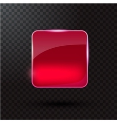 Colored glass button for web interface vector image vector image