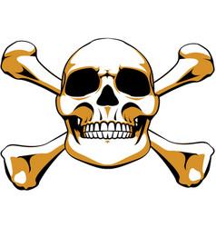 Crossbones skull vector