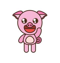 Cute pig toy kawaii image vector
