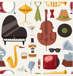 Fashion jazz band music party symbols and musical vector