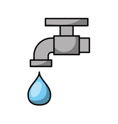 Faucet water isolated icon vector