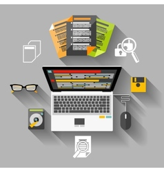 Financier workplace flat design concept vector image vector image