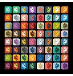 Flat design police badge vector image vector image