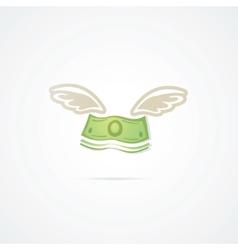 Flying Dollar vector image