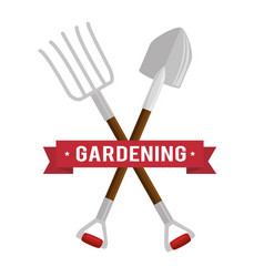 Gardening set tools icons vector