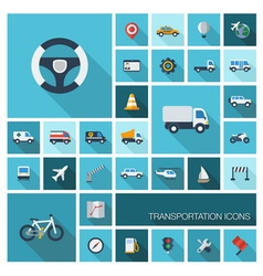 icons with long shadows vector image