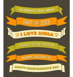 India Independence Day Celebration Banners Set vector image vector image